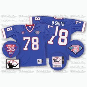 Bruce Smith Royal Retired Jersey